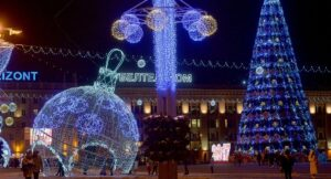 new year, events in minsk in december 2018, cristmas tree