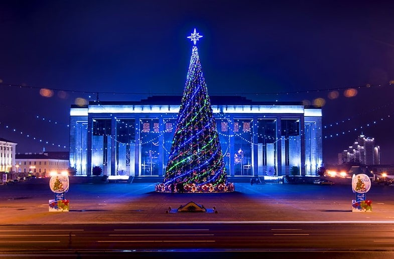 Big Christmas Fair , October square, Мinsk
