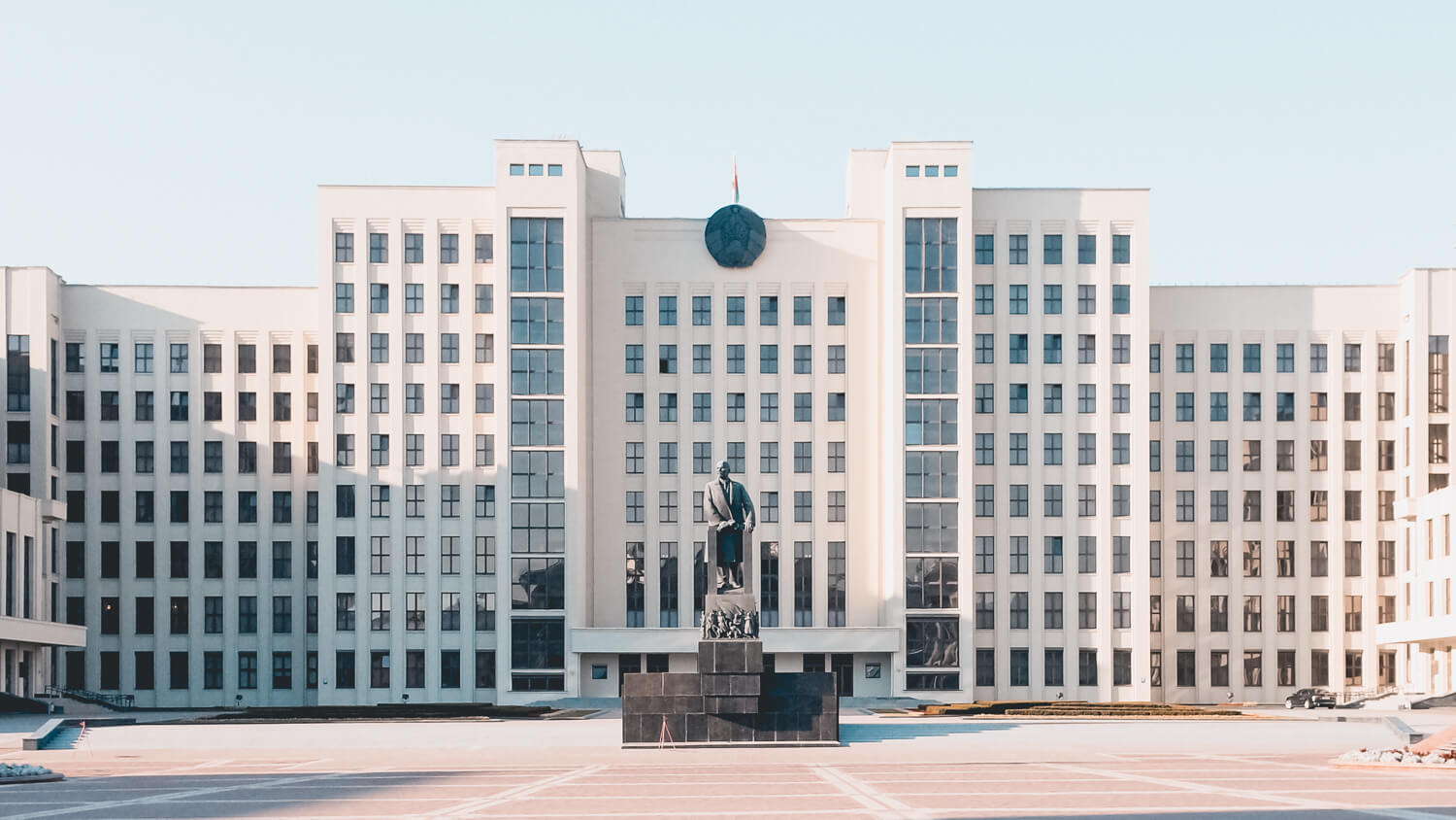 Minsk parliament building, Belarus solo travel tips