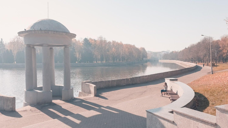 Река Свислочь в Минске, самостоятельная поездка в Беларусь