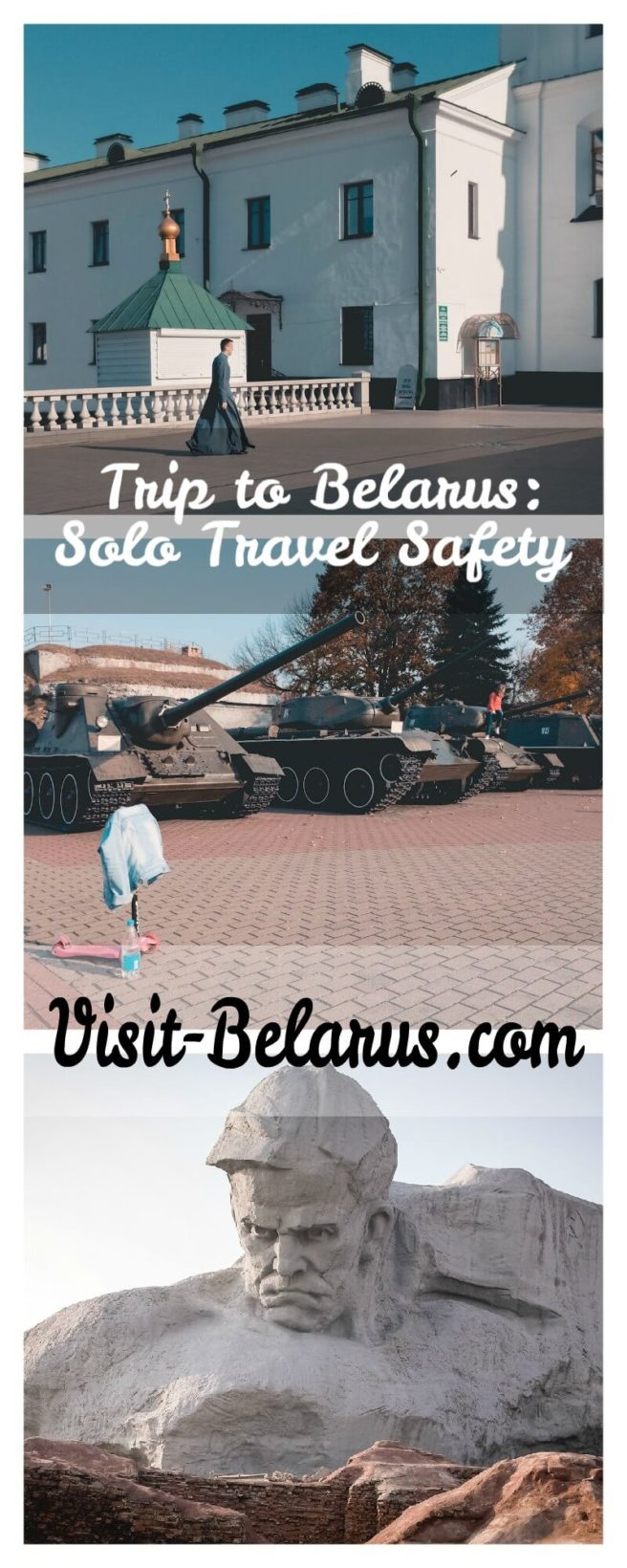 Collage from a trip to Belarus, travel safety