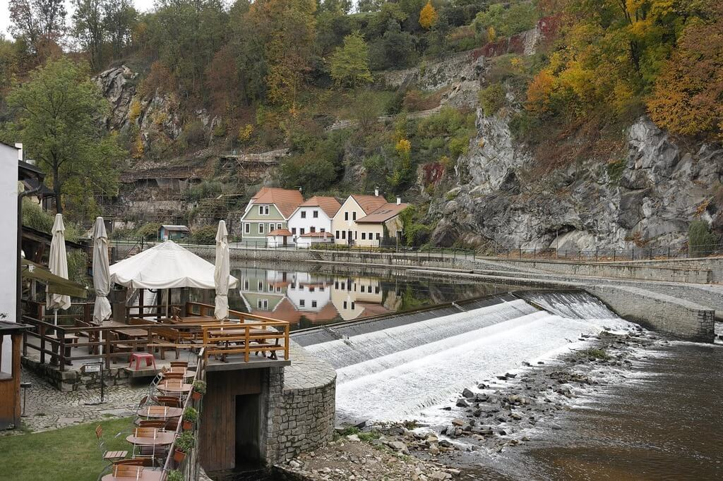 Cesky Krumlov in autumn, visiting Eastern Europe with kids