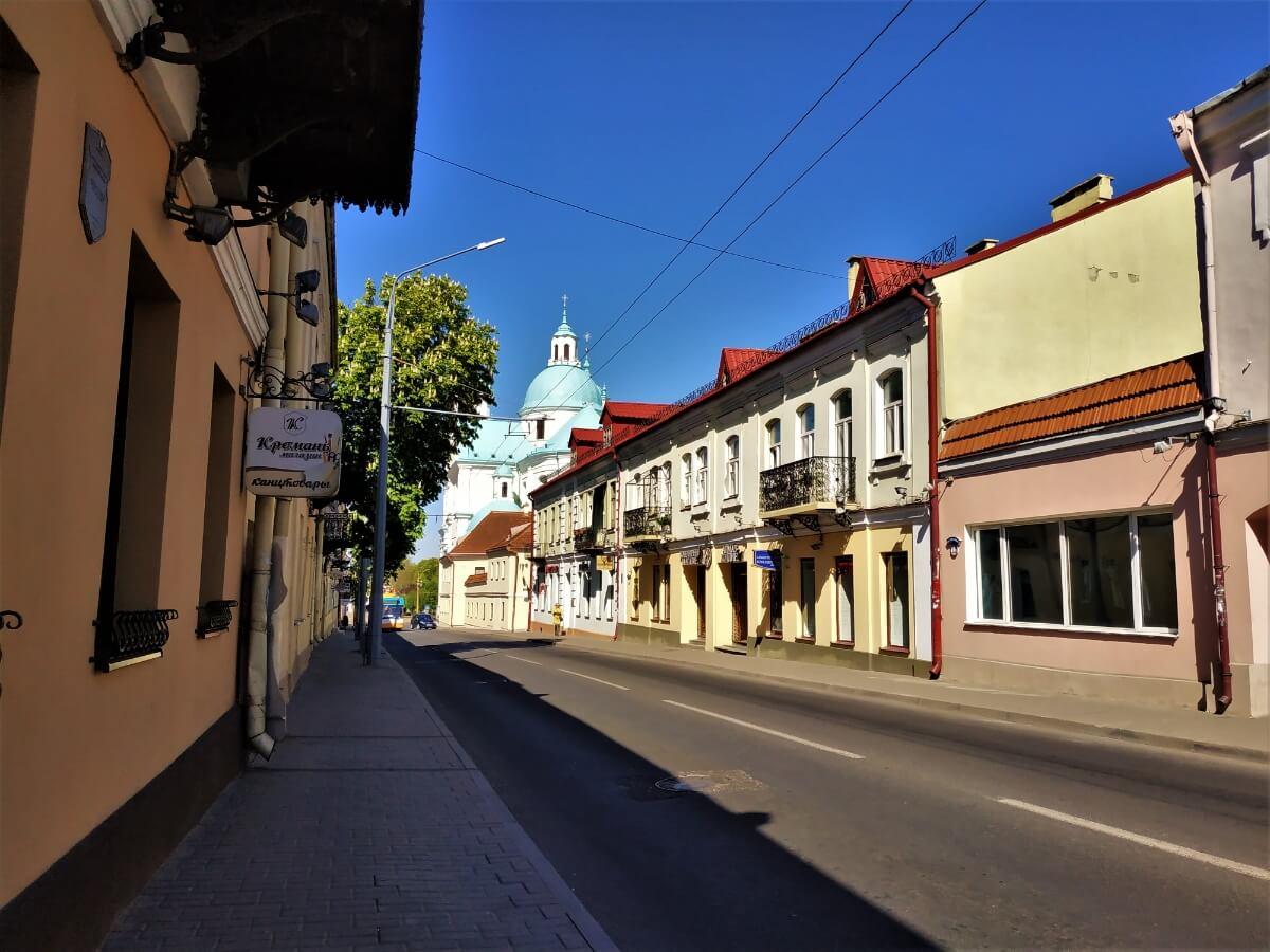 Улицы гродно, достопримечательности за день