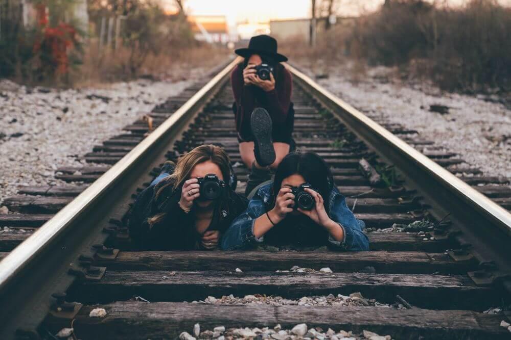 Children on the rail road in Minsk