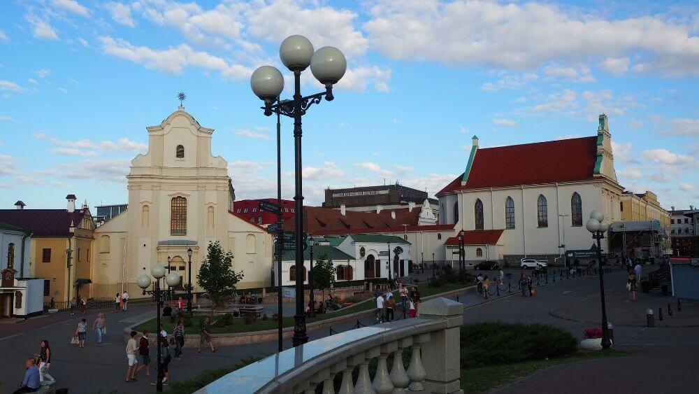 Atrakcje Białorusi, starówka w Mińsku