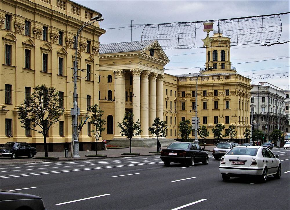KGB building on Independence avenue in Minsk, mass surveillance