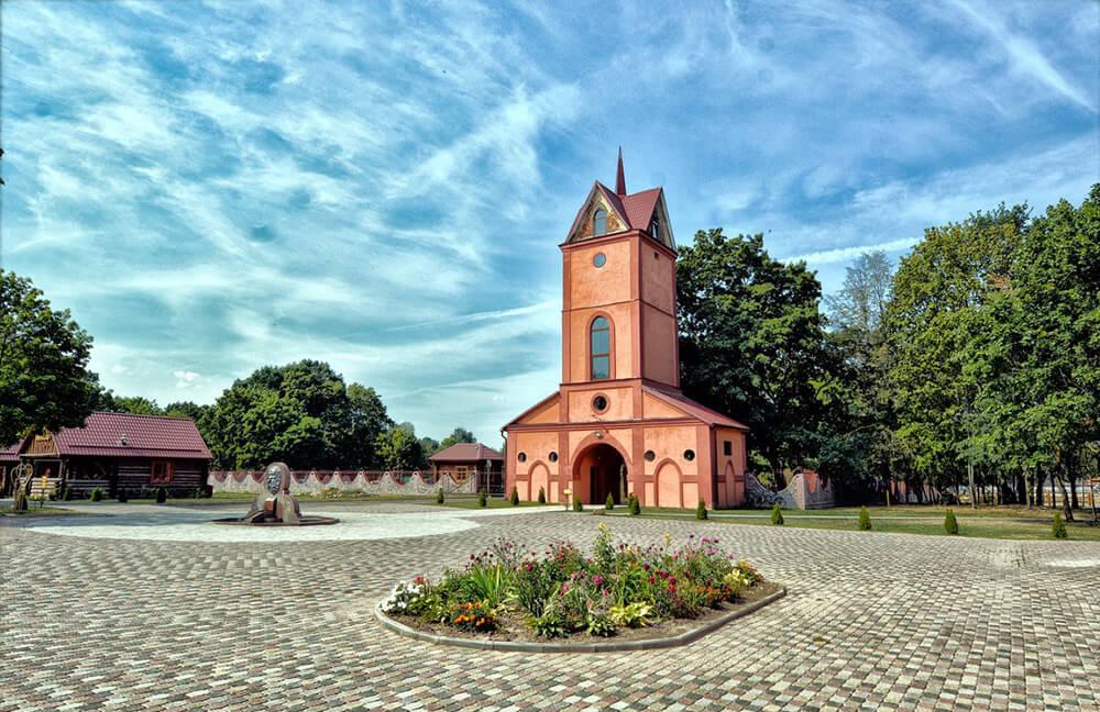 Dukorski maentak (manor) in Belarus countryside