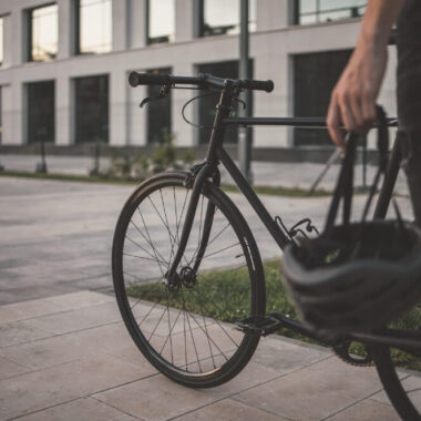 Minsk cycling in the city center in Belarus