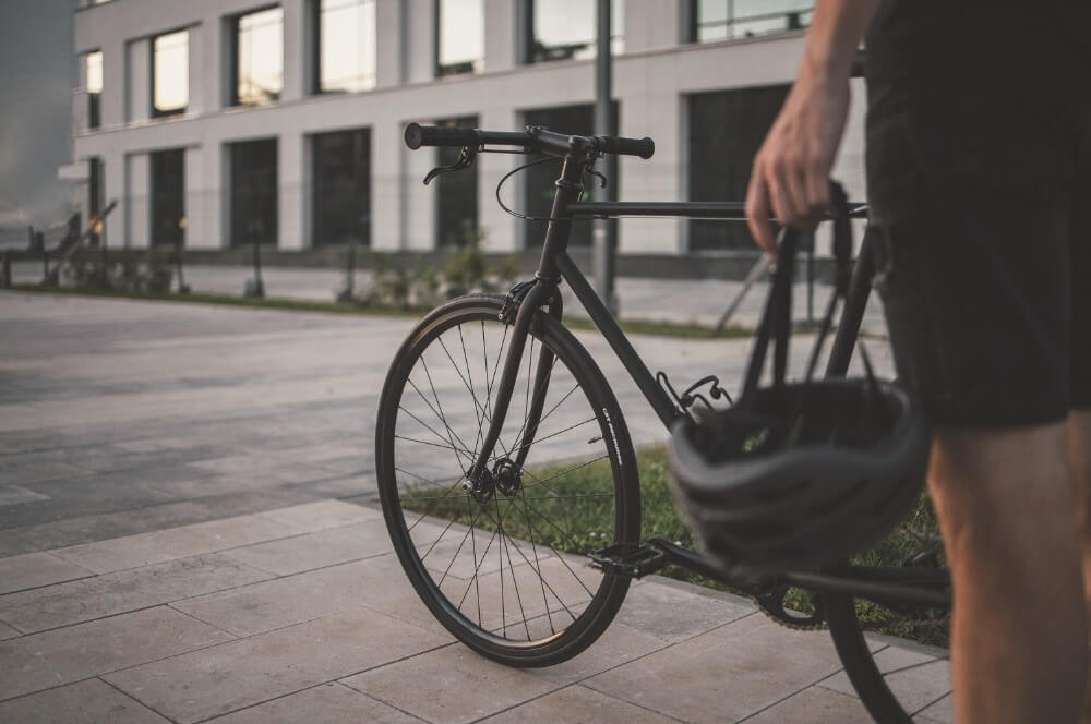 Bicycle in Minsk city center cycling outdoor Belarus